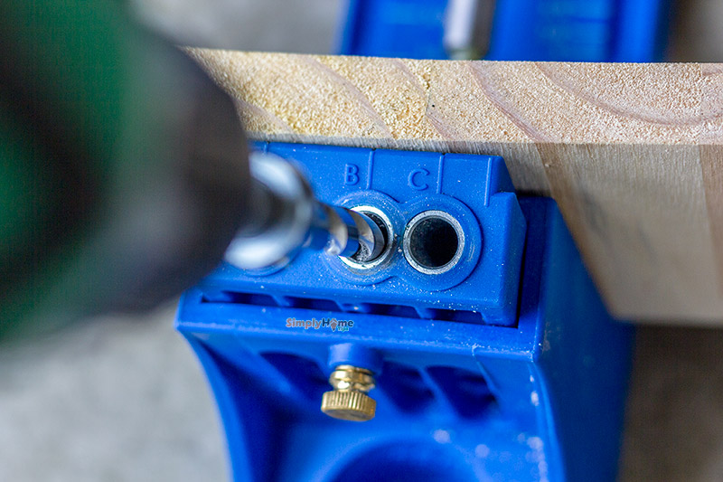 Attach wood boards and start drilling the holes