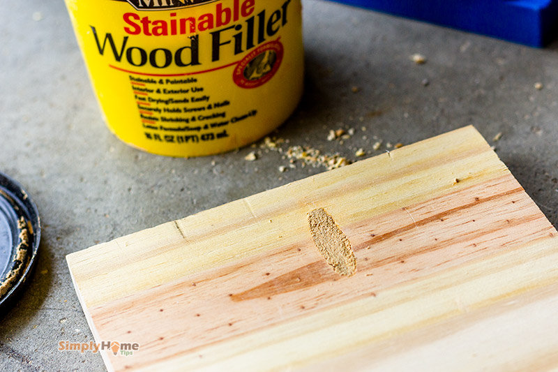 Fill pocket holes with wood filler