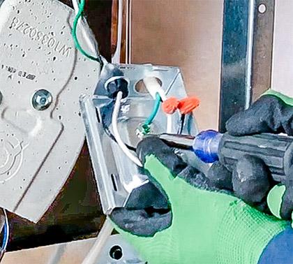 Attach dishwasher power cord