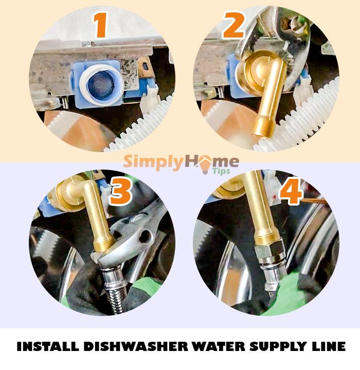 Install dishwasher water supply line