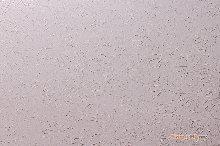 Ceiling drywall with added texture