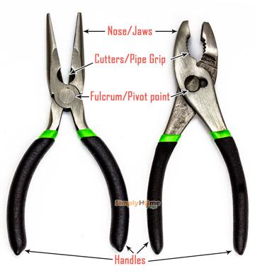 Plier construction and parts