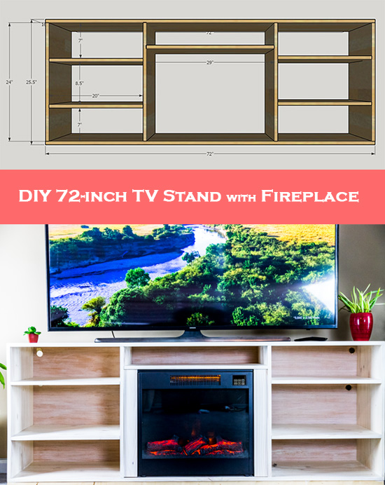 How to Make Your Own 72-inch TV Stand with Fireplace