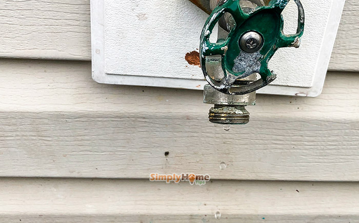 Leaking Outdoor Faucet