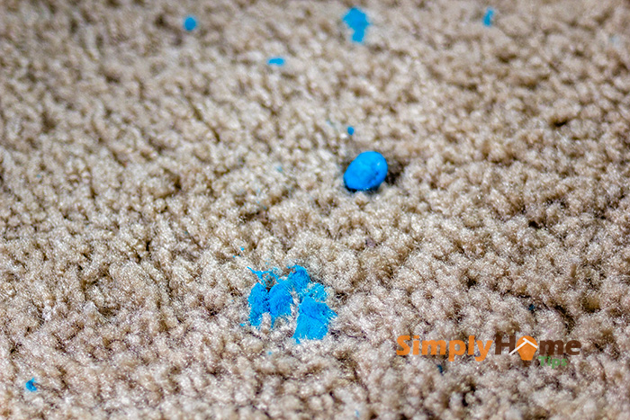 Blu-Tack Putty sticks into carpets