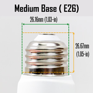 E26 medium base
