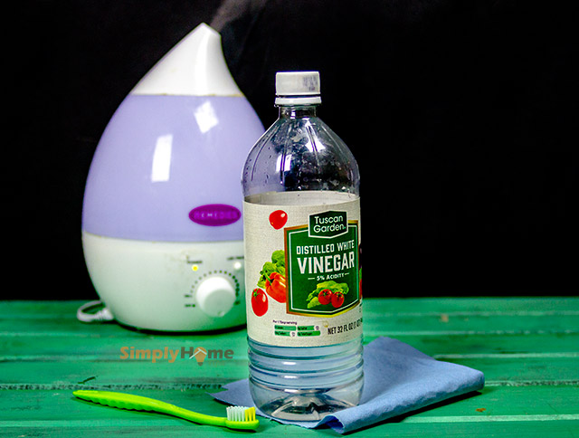 Cleaning humidifier wthi vinegar
